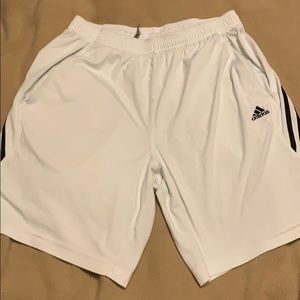Adidas white tennis shorts
